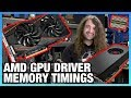 AMD GPU Memory Timing Level Benchmark Using Driver Option