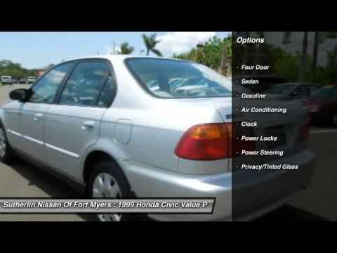 1999 Honda Civic Value Package Fort Myers FL 33912