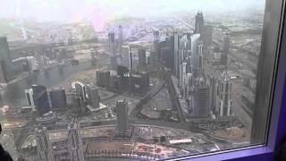 Aussicht vom Burj Khalifa in 555 meter Höhe