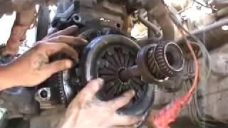 Замена диска сцепления в двигателе ВАЗ 21083 и снять коробку