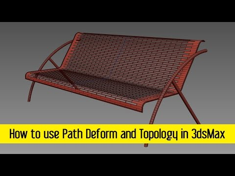 How to use Path Deform and Topology in 3dsMax