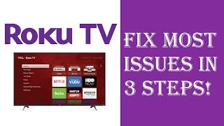 How To Fix Almost All Roku TV Issues/Problems in Just 3 Steps - Roku Not Working Restart Update