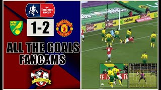 Harry Maguire Wins it | Norwich 1-2  Manchester United | All The Goals | FanCams