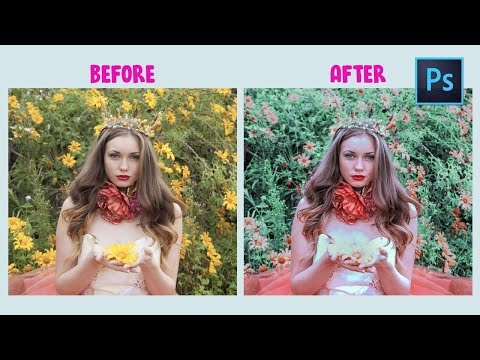 [ Photoshop Tutorial ] EDITING POTRAIT in Photoshop - Soft Green Color Effect thumbnail
