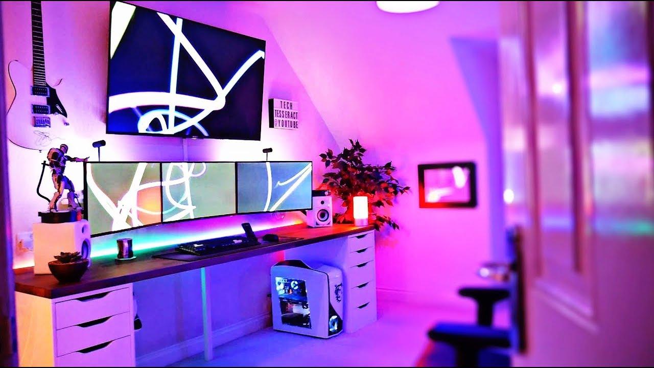 5000 Ultimate Gaming Setup Room Tour  2017  YouTube