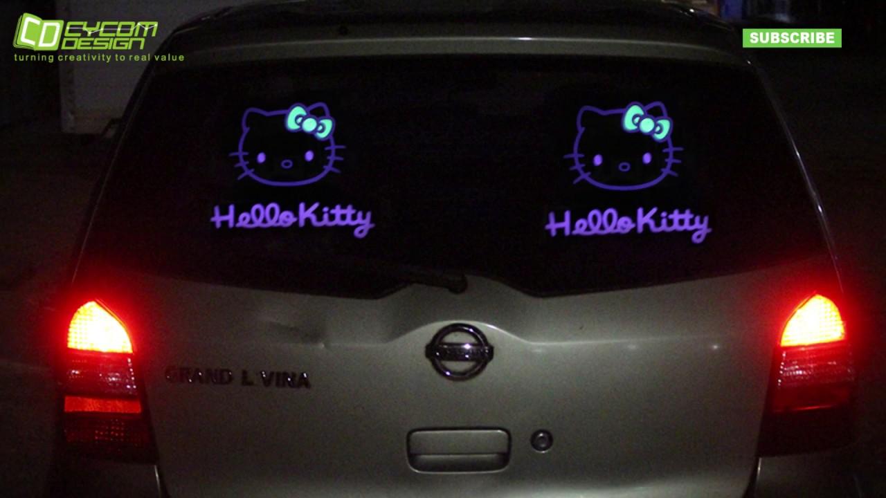 Video penerapan siker elektronik hello kitty 2 jalur pada mobil