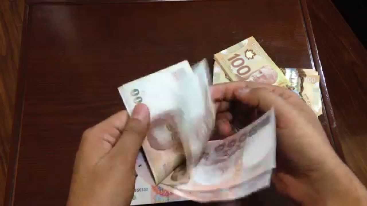How to Count Money Fast CAD $ RMB ¥ THB ฿ - YouTube
