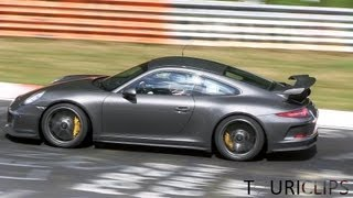 Porsche 991 GT3: 9000 RPM at the Nürburgring! Pure sounds!