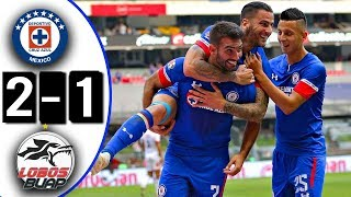 Cruz Azul vs Lobos BUAP  2-1 Goles & Resumen  Liga MX Jornada 16 10/11/2018 HD