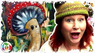How to paint | Cute  Mushroom Fairy |  The Art Sherpa