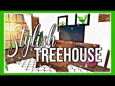 Roblox Bloxburg Cozy Stylish Treehouse Youtube