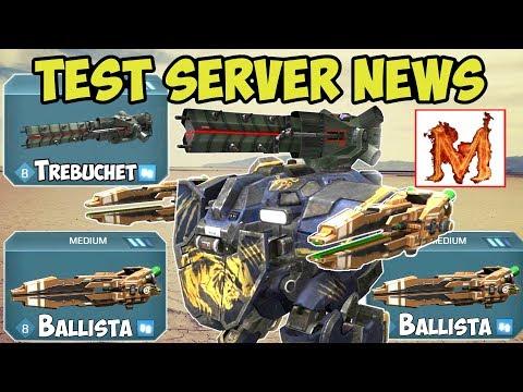 War Robots New Test Server: Falcon & Pursuer Changed & Ballista - WR