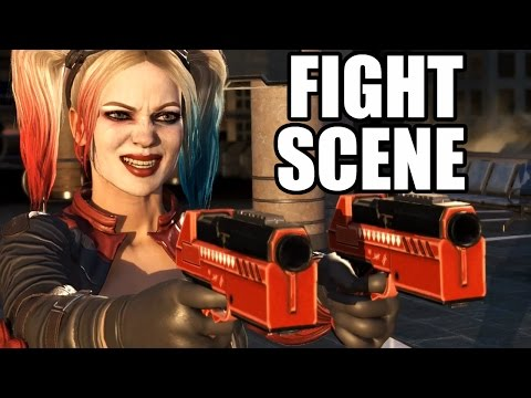 INJUSTICE 2 - Wonder Woman Stabs Harley Quinn - Fight Scene