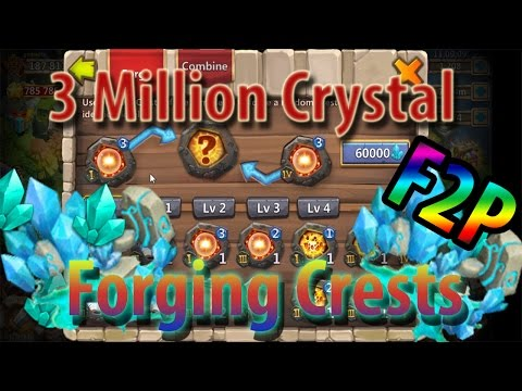3 Million Blue Crystal Forged In The Sickest F2P ACC - CASTLE CLASH