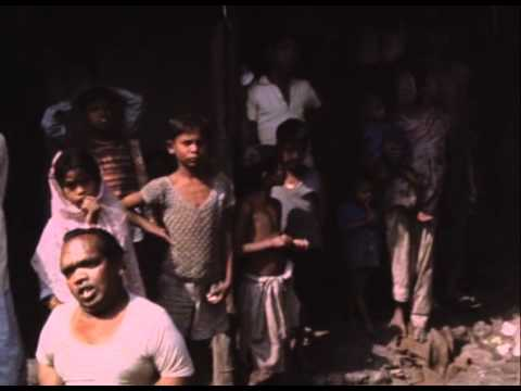 life in slums- Calcutta-1968, from Louis Malle's documentary