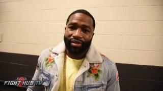 "Adrien Broner ""Of course he can fight Crawford, the fight that makes most sense, revenue is me"""