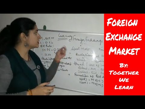 The Foreign Exchange Market: Hindi Tutorial: जानिए spot market और forward market क्या होता  है?