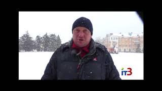 Черноморск накрыла снежная буря
