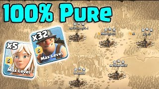100% Pure 5 Max Healer 32 Max Miner Easy Smashing 3 Star Any New Th11 Max War Style | Clash Of Clans