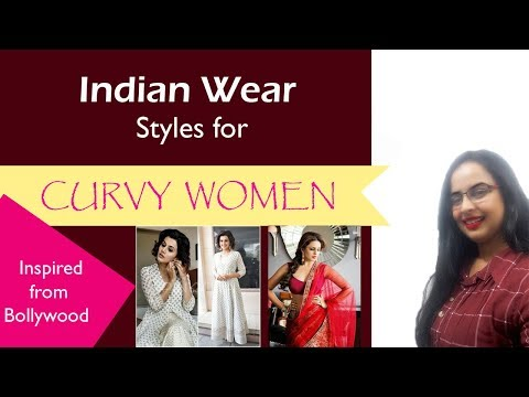Indian outfit ideas for Curvy Women| Inspired from Bollywood| In Hindi |English subtitles