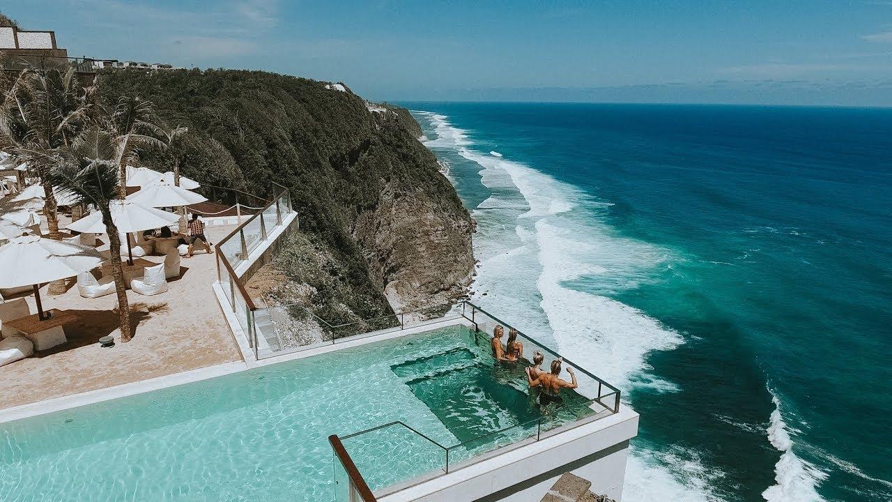 Glass Bottom Pool In Bali Juhani Sarglep Youtube