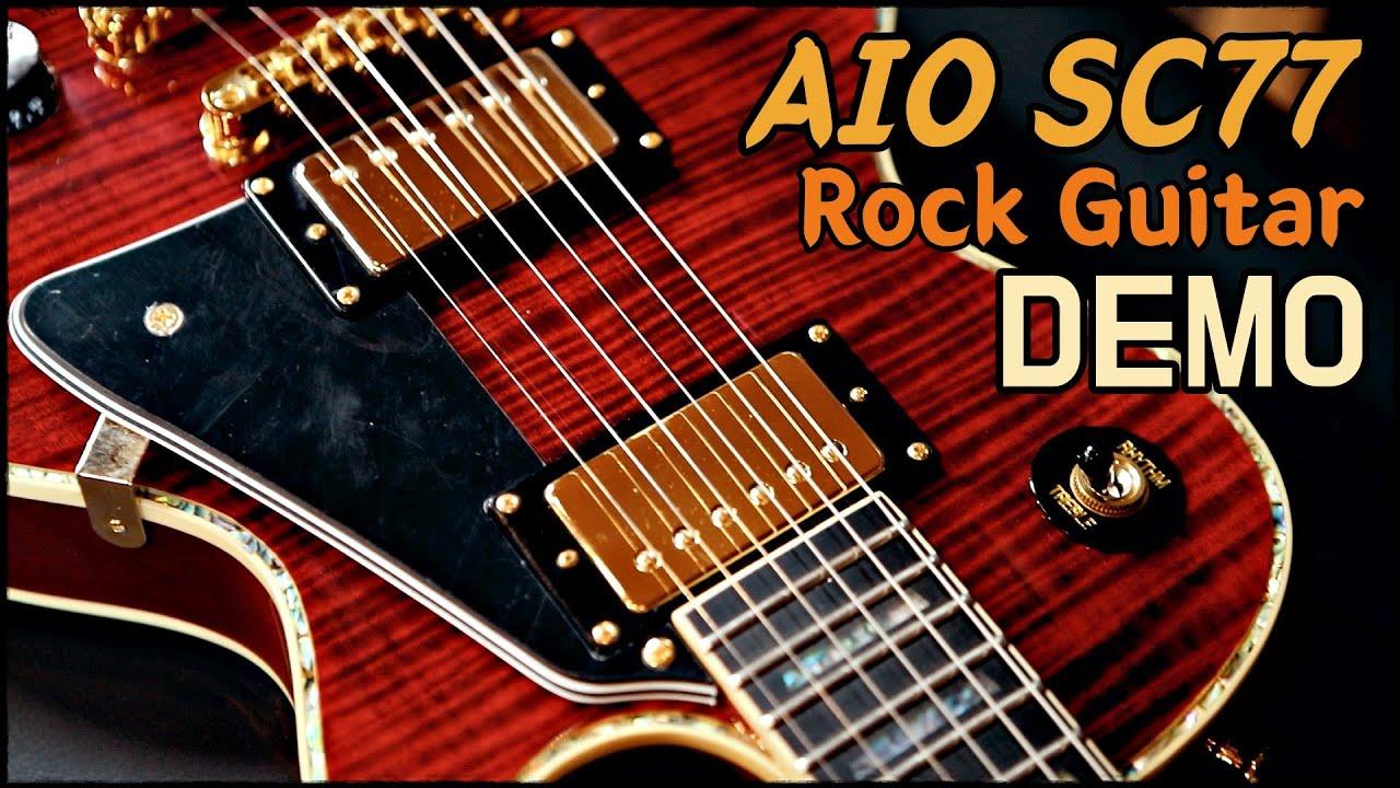 AIO SC77 / ROCK Guitar Demo // Les Paul Type Guitar