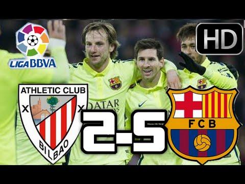 Athletic de Bilbao vs Barcelona 2015| RESUMEN COMPLETO Y GOLES HD| LIGA BBVA| 08-02-2015