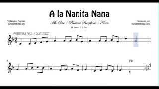 A la Nanita Nana Sheet Music for Alto Saxophone Baritone Saxophon and Horn Christmas Carol