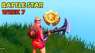 Fortnite: Find the Secret Battle Star in Loading Screen 7 WEEK 7 SECRET BATTLE STAR LOCATION GUIDE!