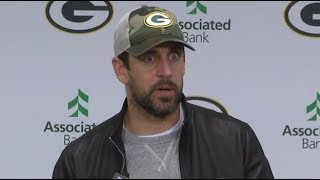 Aaron Rodgers reacts to Mason Crosby's big Week 6 moment