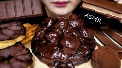 ASMR CHOCOLATE BROWNIE PARTY MUKBANG ICE CREAM PUFF CAKE 브라우니 ブラウニー براوني EATING SOUNDS NO TALKING