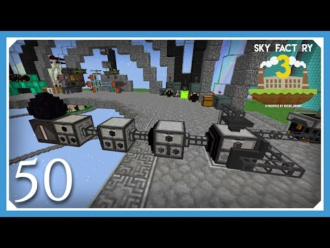 FTB Sky Factory 3 | Octuple Compressed Cobble & Dragon Egg Mill! | E50 (Skyblock Minecraft 1.10.2)