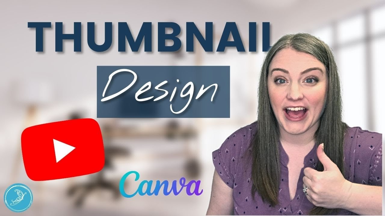 How to make a YouTube THUMBNAIL in CANVA 2020 #quicktips   Free design tutorial for beginners