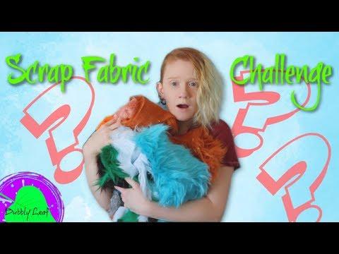 Scrap Fabric Art Challenge || Art Doll Tutorial