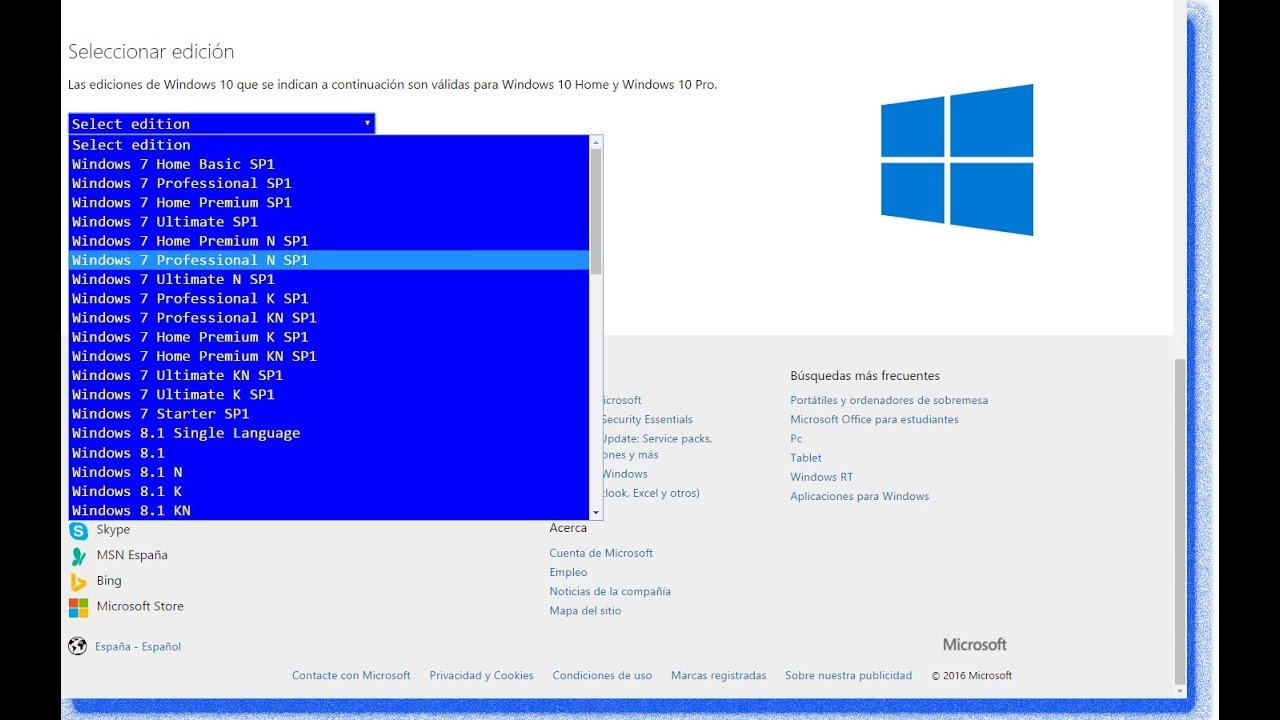 descargar imagen iso windows 7 desde microsoft