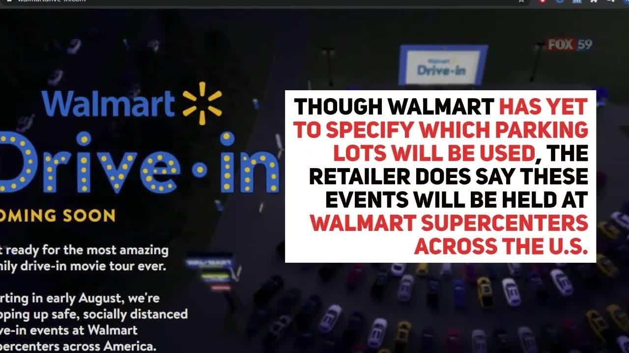 Walmart Setting Up Drive In Theaters At Parking Lots Youtube