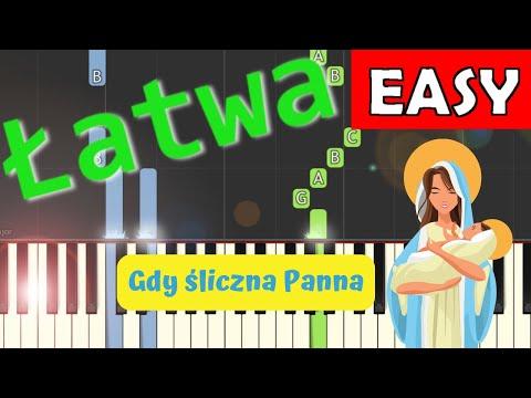 🎹 Gdy śliczna Panna - Piano Tutorial (łatwa wersja) 🎹