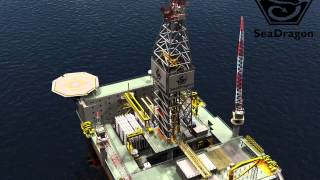 Sea Dragon Offshore Semi Submersible Drilling Rig