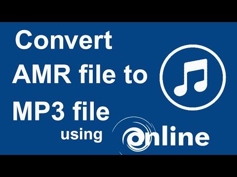 How to convert Amr file to Mp3 file using Online