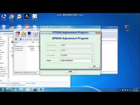 Epson l805 resetter and Adjustment Program download full crack