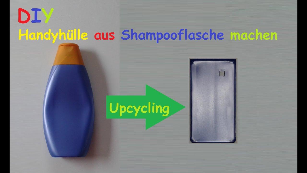 handyh lle aus shampoo flasche selber machen smartphone h lle basteln diy handy case bauen. Black Bedroom Furniture Sets. Home Design Ideas