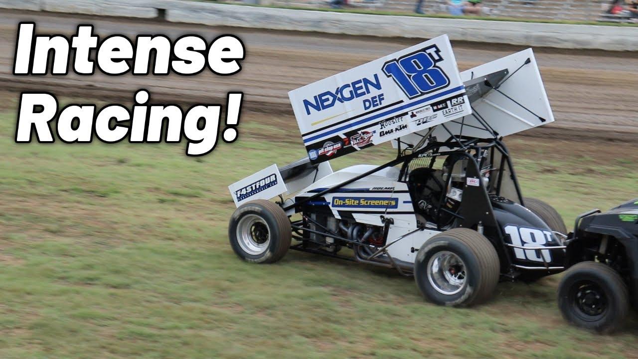 Intense 410 Sprint Car Action At Humbolt Speedway! (All Stars)
