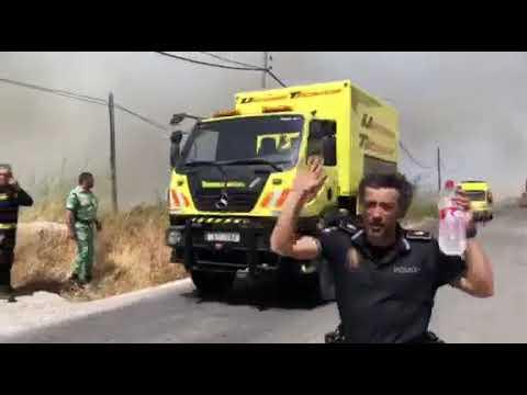 Quinientas personas desalojadas de García Aldave