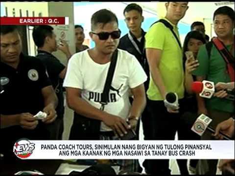 Panda Coach Tours nag-abot ng panimulang tulong sa nasawi sa Tanay