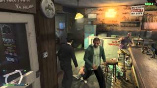Abe Lincoln Bar fight GTA 5 PS4