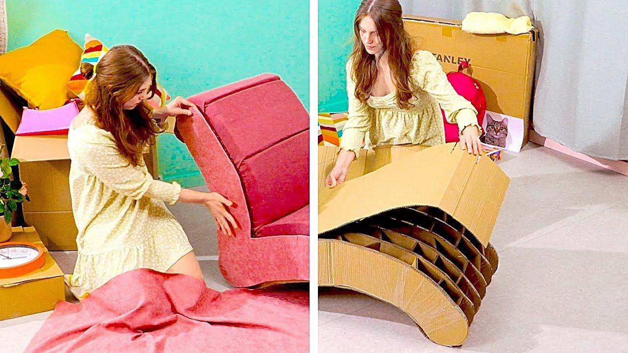 Не выбрасывайте картон! Фантастические идеи по переработке старых вещей!