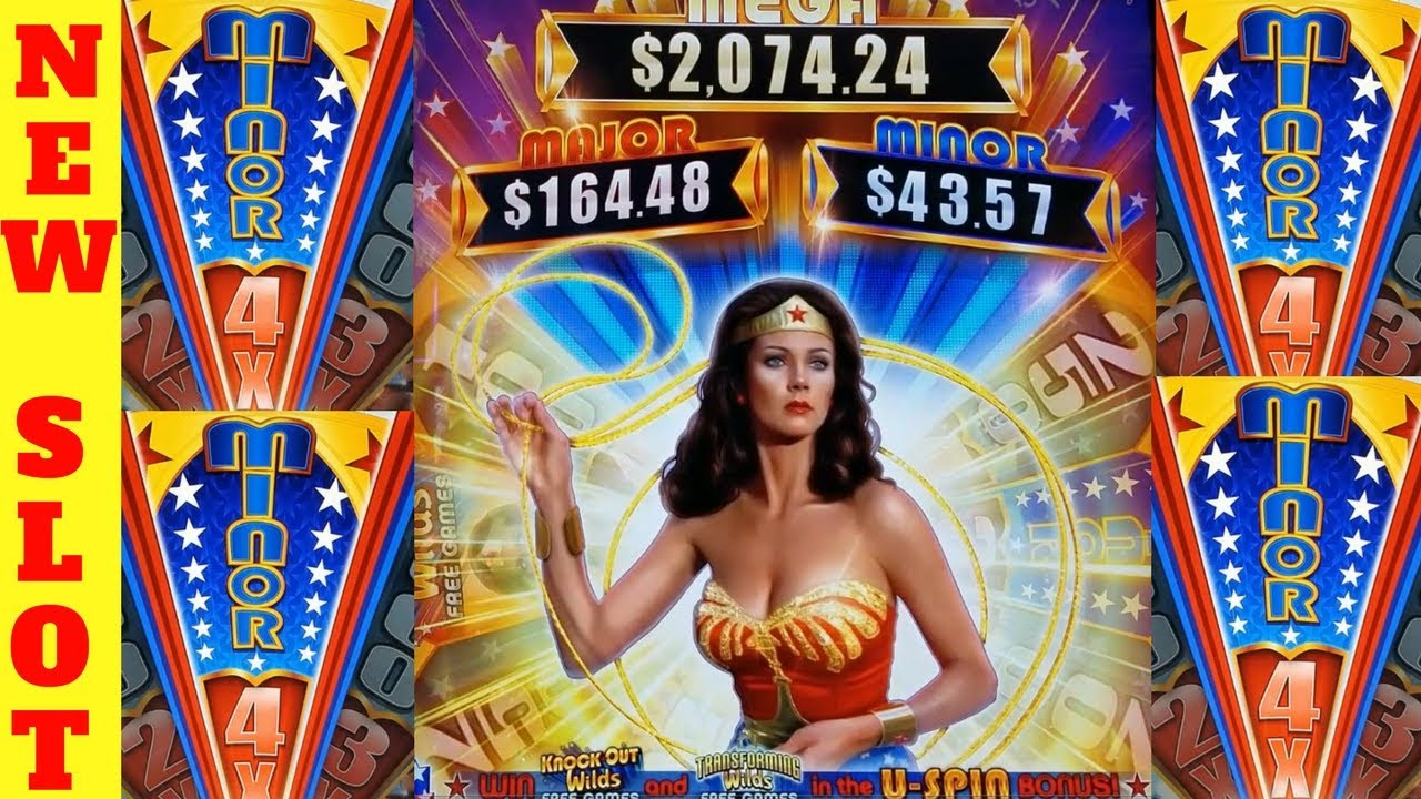 New Wonder Woman★★ Slot Machine Max Bet Bonus Won First
