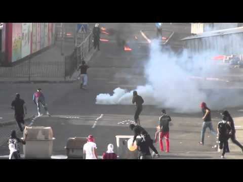 aldair - clashes infront of bahrain airport in dignity strike 2 ,, 14-3-2013