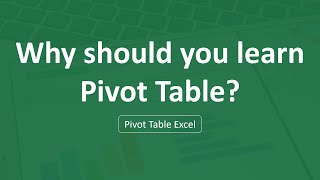 Pivot Table in Excel | Best use of Pivot table