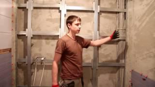 Фальш стена из гипсокартона (ГКЛ) - правила монтажа